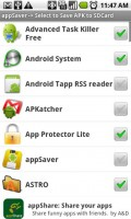 AppSaver List of Apps to Save to SD Card