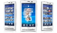 Sony Ericsson X10 Front and Angle Views
