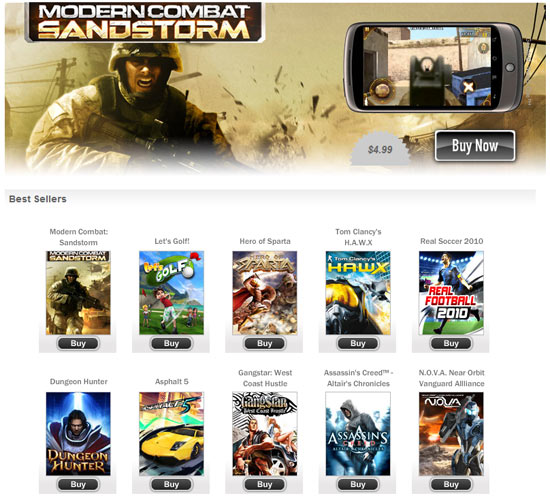 Gameloft Releases 10 HD Games for Android Smartphones