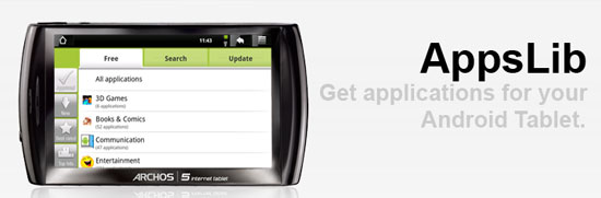 AppsLib. The Android Market for Android Tablets