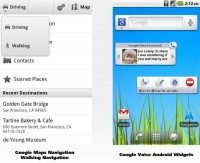 Google Updates Android Apps: Google Maps Navigation Walking Navigation and Google Voice Quick Access Home Screen Widgets