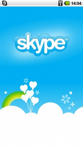 Skype for Android Splash Screen