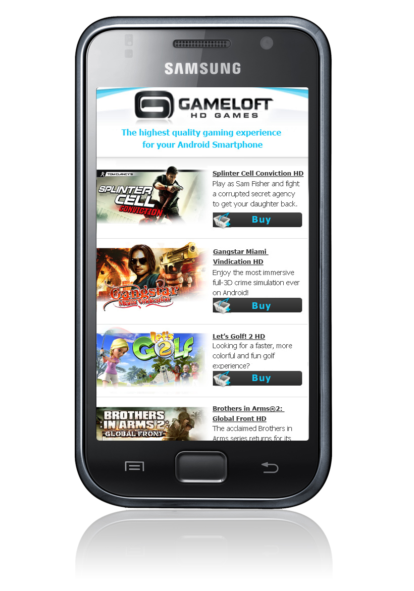 Gameloft Android Shop