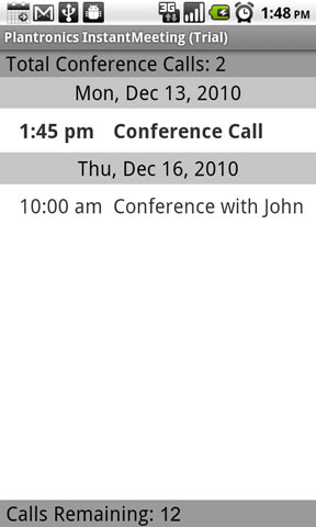 InstantMeeting Total Calls
