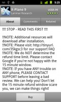 X-Plane 9 App Description Explanation of Google 15 App Refund Window