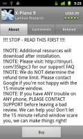 X-Plane 9 App Description Explanation of Google 15 App Refund Window