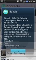 Bubble Help Screen