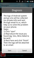 GO SMS Pro Diagnosis