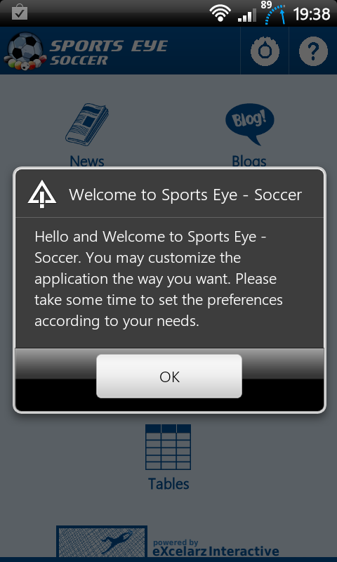 Sports Eye Soccer Welcome