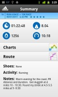 adidas miCoach Workout Summary