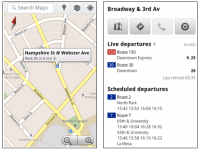 Google Maps Mobile Live Transit