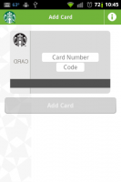 Starbucks Add Card