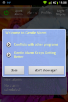 Gentle Alarm Welcome