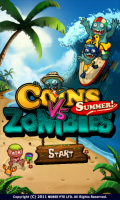 Coins vs Zombies Summer - Start screen