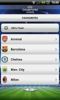 UEFA Champions League Edition - Favourites section
