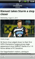 UEFA Champions League Edition - News story view
