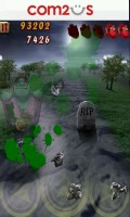 Zombie Runaway - The green splats are Zombie blood