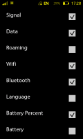 StatusBar+ - Choose which icons are included