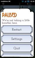 Kaptilo - Paused menu
