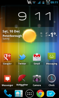 Spectrum ICS Live Wallpaper Pro - Background Style 6, ICS colors