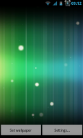 Spectrum ICS Live Wallpaper Pro - Different background color pre-sets