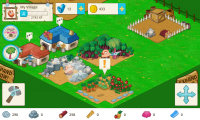 Tiny Village - Notifications scatter thoughout the game to let you know when something needs to be done