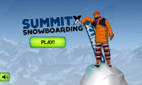 SummitX Snowboarding Start Screen