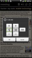 Newshog Google News Reader News Wake Timer