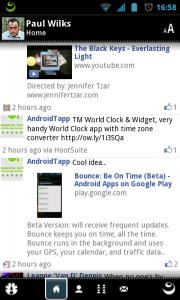 Kinoma Play - Facebook interface