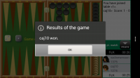 Backgammon GC - Game result