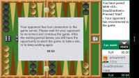 Backgammon GC - Lost connection