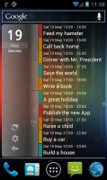 Clean Calendar Widget on Phone