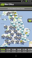 Met Office - Hourly map up close