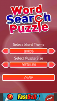 Word Search Puzzle Menu
