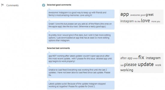 Apptimizer Highlighted Comments with Tag Cloud