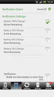 Battery Saver Android Free - Set alarm notifications