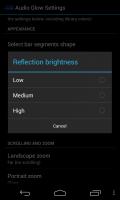 Audio Glow Music Visualizer - Reflection settings