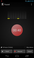 Smart Voice Recorder - Recording paused