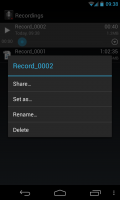 Smart Voice Recorder - Recording settings