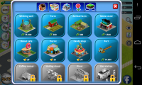 City Island - Build menu