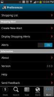Free Find Best Price App BuyVia - Settings
