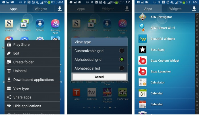 How to Customize App Drawer on Samsung Galaxy S4