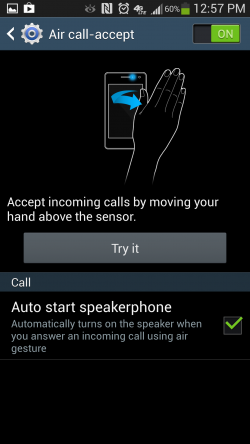 How to Turn on Air-call Accept