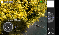 PerfectShot - Colour effects menu