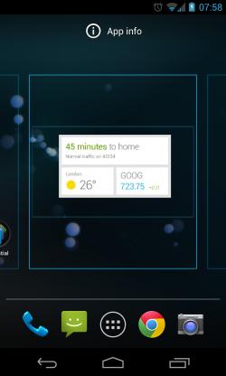 Drag Widgets to Homescreen