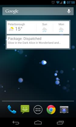 Widget on Homescreen