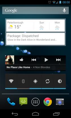 Three Homescreen Widgets