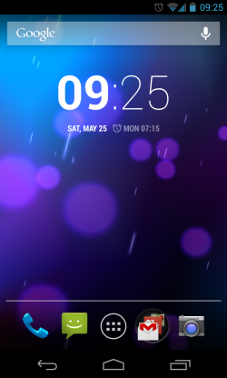 Basic Android homescreen