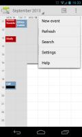 Calendar++ - Menu
