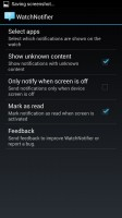 WatchNotifier - Settings